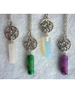 Collier Pendule & Pentacle Misty Day - Wicca - Plusieurs coloris