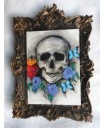 Memento Mori Postcard, Vanity, Skull, Greeting, Card, Art, Gothic, Curiosities, Oddities, Anatomy