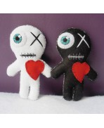 LOVE IN A BAG Voodoo Gift Kit, Voodoo Doll, Mummy, Lovers, Zombie, Valentine, Heart, Wedding