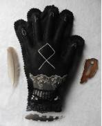 Main Brodée Parfumée Odal Othala Gris - Protection, Pendule, Phytothérapie, Runes, Viking, Suspension murale, Lithothérapie