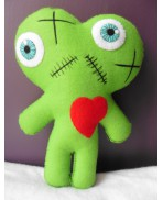 One Heart, Two Souls Green Conjoined Twins Mummy Voodoo Doll - Siamese, Circus, Freak, Freak Show, Love, Valentine, Wedding