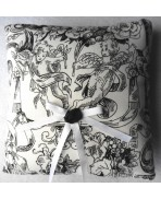 Black & White Cherubs Wedding Ring Pillow - Gothic, Cupid, Angel, Cherub, Eros, French Wedding, Marie-Antoinette, Shabby Chic