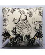 Dark Baroque White Lady Wedding Rings Pillow, Gothic Wedding, Skull, Black and white, Dia de los Muertos