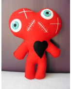 One Heart, Two Souls RED Conjoined Twins Mummy Voodoo Doll - Siamese, Circus, Freak, Freak Show, Love, Valentine, Wedding