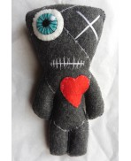 Franken, The All Stitched Up One GREY Voodoo Doll, Valentine, Mummy, Frankenstein, Monster, Freak, Circus
