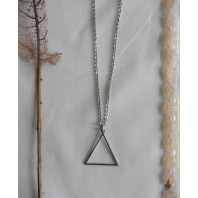 Occult Symbol Fire Element Triangle Necklace, Esoteric, Black Sun, Magic, Alchemy, Pagan, Gothic, Wiccan, Witch, Boho, Grunge