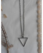 Occult Symbol Water Element inverted Triangle Necklace, Esoteric, Magic, Alchemy, Pagan, Gothic, Wiccan, Witch, Boho, Grunge
