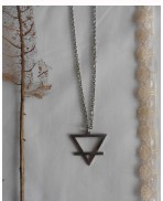 Occult Symbol Earth Element crossed inverted Triangle Necklace, Esoteric, Magic, Alchemy, Pagan, Gothic, Wiccan, Witch, Boho