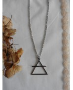 Occult Symbol Air Element crossed Triangle Necklace, Esoteric, Magic, Alchemy, Pagan, Gothic, Wiccan, Witch, Boho, Grunge
