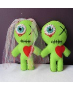 Married Zombie Voodoo Doll Gift Kit, Love, Day of the Dead, Valentine, Couple, Gothic Wedding, Groom, Bride, Art Doll, Mummy