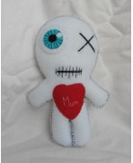 White Love Mum the Mummy Poppet Voodoo Doll, Mother's day, Halloween, Zombie